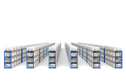 Shelves x 60. Top Perspective view, shadows. Stock Photography