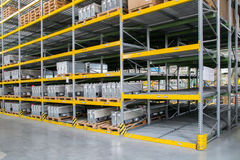 Shelving gravity for pallets Stock Images