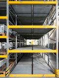 Shelving gravity for pallets Stock Photography