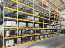 Shelving gravity for pallets Royalty Free Stock Photos