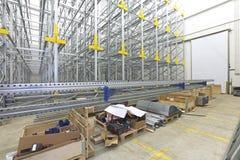 Shelving System Construction Stock Photo