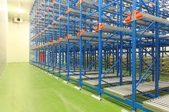 Shelving system warehouse Royalty Free Stock Images