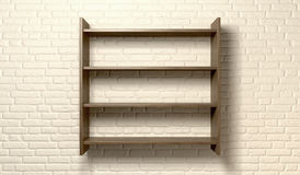 Shelving Unit On A Wall Front Stock Photos
