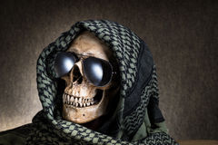Shemagh skull stock photos