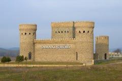 Shemakha古城的被恢复的堡垒1月下午 阿塞拜疆共和国 库存照片