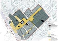 Sheme, architectuur, kleine stadsregeneratie Royalty-vrije Stock Fotografie