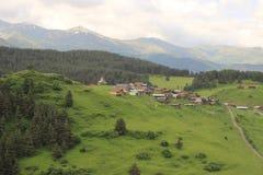 Shenako village, Tusheti region (Georgia) Royalty Free Stock Photos