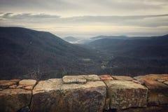 Shenandoah Mountain Landscape. Roadside mountain landscape in the Shenandoah national park royalty free stock image