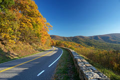 Shenandoah National park at the autumn. US Royalty Free Stock Images