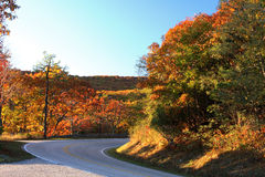 Shenandoah National park at the autumn Royalty Free Stock Image