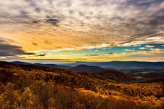 Shenandoah National Park in October. At sunset royalty free stock photos