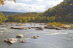 Shenandoah River along Appalachian trail in West Virginia, USA. Royalty Free Stock Photography