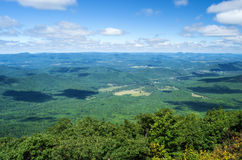 Shenandoah Valley from the  Blue Ridge Parkway Royalty Free Stock Photos