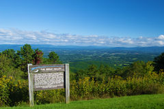 Shenandoah Valley from the  Blue Ridge Parkway Stock Photo