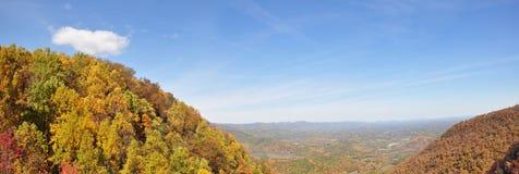 Shenandoah Valley Panorama. Panoramic view of Shenandoah Valley during Fall season in Virginia, USA Stock Image