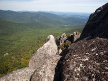 Shenandoah valley by rock outcrop Royalty Free Stock Images