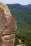 Shenandoah valley by rock outcrop Royalty Free Stock Photo