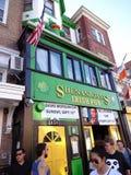 Shenanigans Irish Pub on Adams Morgan Day. Photo of shenanigans irish pub in adams morgan in washington dc on 9/13/15 on adams morgan day. Many bars were open stock images