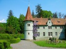 Shenborn castle, Carpathians, Ukraine Stock Image
