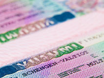 Shengen visa. From Finnish Consulate Stock Images