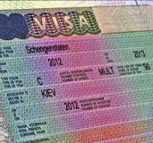 Shengen visa for europe travel. Shengen visa for ukrainian citizen, europe travel details Royalty Free Stock Image