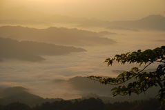 Shengtangshan dawn Royalty Free Stock Photography