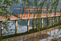Shengzhongmeer in de provincie van Sichuan, China Stock Afbeeldingen