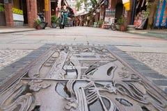Shenkeng老街道-豆腐资本在台北,台湾 免版税库存图片