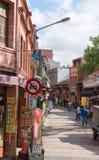Shenkeng gammal gata - Tofuhuvudstaden i Taipei, Taiwan Arkivfoton