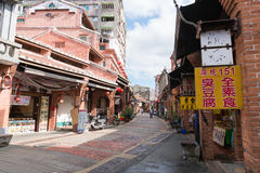 Shenkeng gammal gata - Tofuhuvudstaden i Taipei, Taiwan Fotografering för Bildbyråer