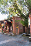 Shenkeng gammal gata - Tofuhuvudstaden i Taipei, Taiwan Royaltyfri Foto