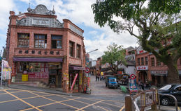 Shenkeng Old Street - The Tofu Capital in Taipei, Taiwan. In Taiwan, the best place to have stinky tofu was said to be this rural town at the outskirt of Taipei royalty free stock images