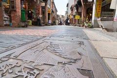 Shenkeng Old Street - The Tofu Capital in Taipei, Taiwan stock image