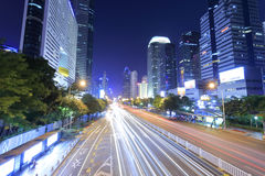 The shennan dadao street night sight Stock Image