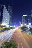 Shennandadao街道夜视域 免版税库存照片