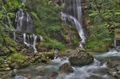 ShenNongJia Tiansheng bridge waterfall and stream stock photos