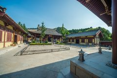 Shentong Temple in Four Gates Pagoda Park, Jinan Stock Images