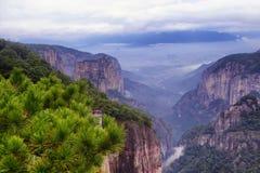 Shenxianju góra z chmura widokiem fotografia royalty free
