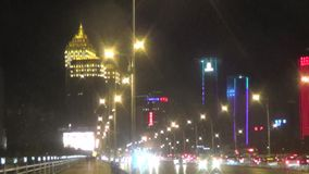 Shenyang city night scene stock video