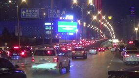 Shenyang city night scene stock footage