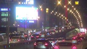 Shenyang city night scene stock video