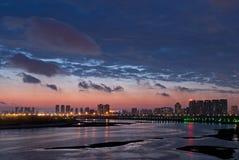 Shenyang Hunnan night Royalty Free Stock Image