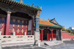 Shenyang Imperial Palace. Architecture of the Shenyang Imperial Palace complex. Forbidden City in Shenyang, Liaoning province, China stock images