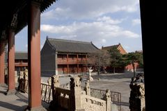 Shenyang Imperial Palace. The Shenyang Imperial Palace, one of the two most intact imperial group-buildings ever existing in China, is located at Shenyang City stock photo