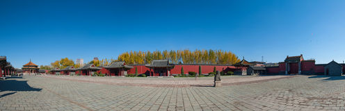 Shenyang Imperial Palace panorama Royalty Free Stock Images