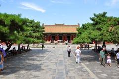 Shenyang imperialistisk slott, Kina Arkivbilder