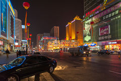 Shenyang streets at night Stock Image