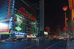 Shenyang streets at night Royalty Free Stock Photography