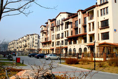 Shenyang Tahiti. Housing estate located in the northern new district shen it is built according to the Spanish construction style, indoor and outdoor pavilions royalty free stock photos
