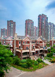 Shenyang Tahiti. Housing estate located in the northern new district shen it is built according to the Spanish construction style, indoor and outdoor pavilions royalty free stock image